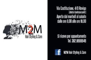 M2M hair stylist sponsor della Pugilistica Rodigina
