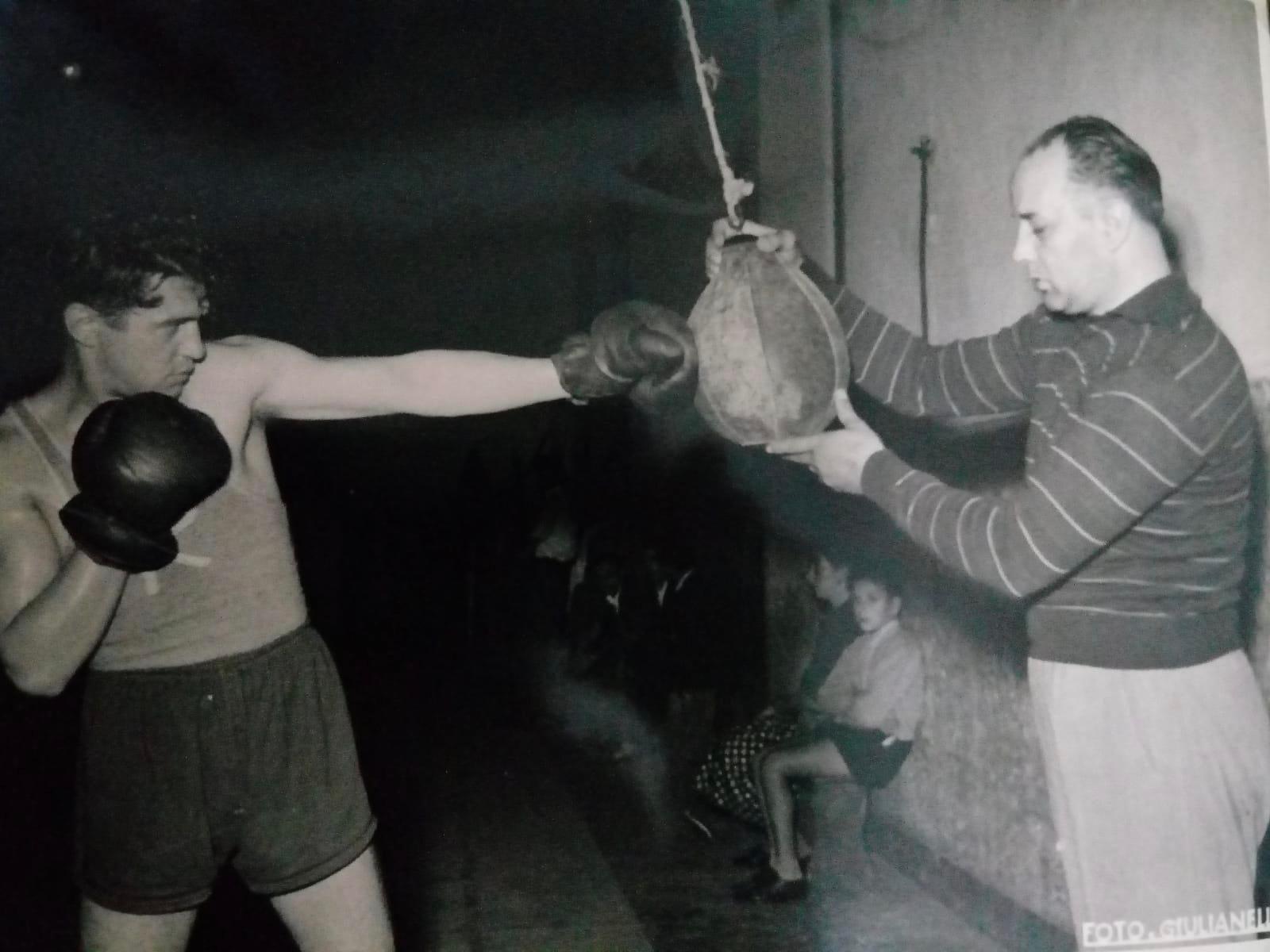 Enzo Correggioli con il maestro Nando Strozzi