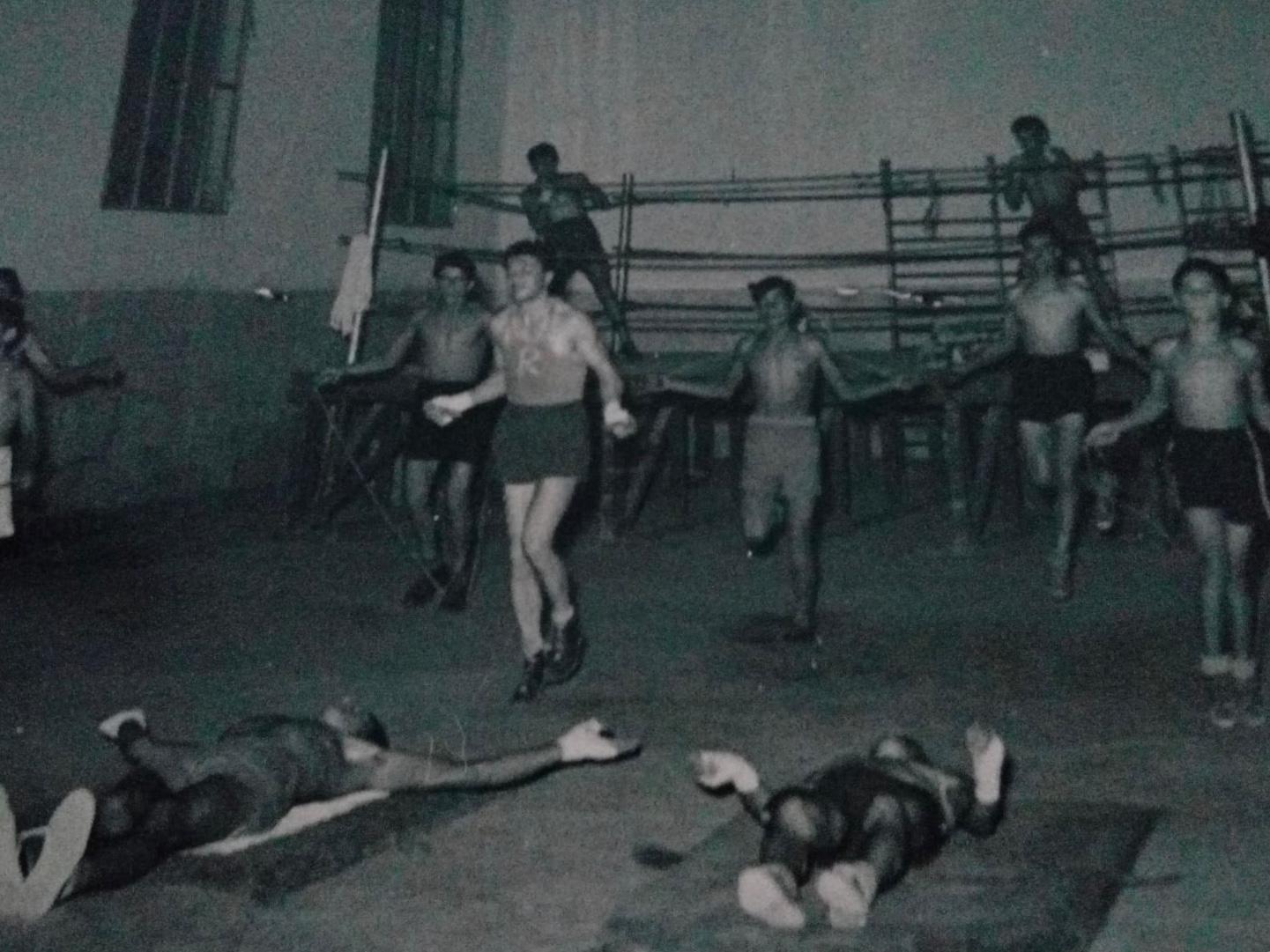 Enzo Correggioli in allenamento in viale trieste