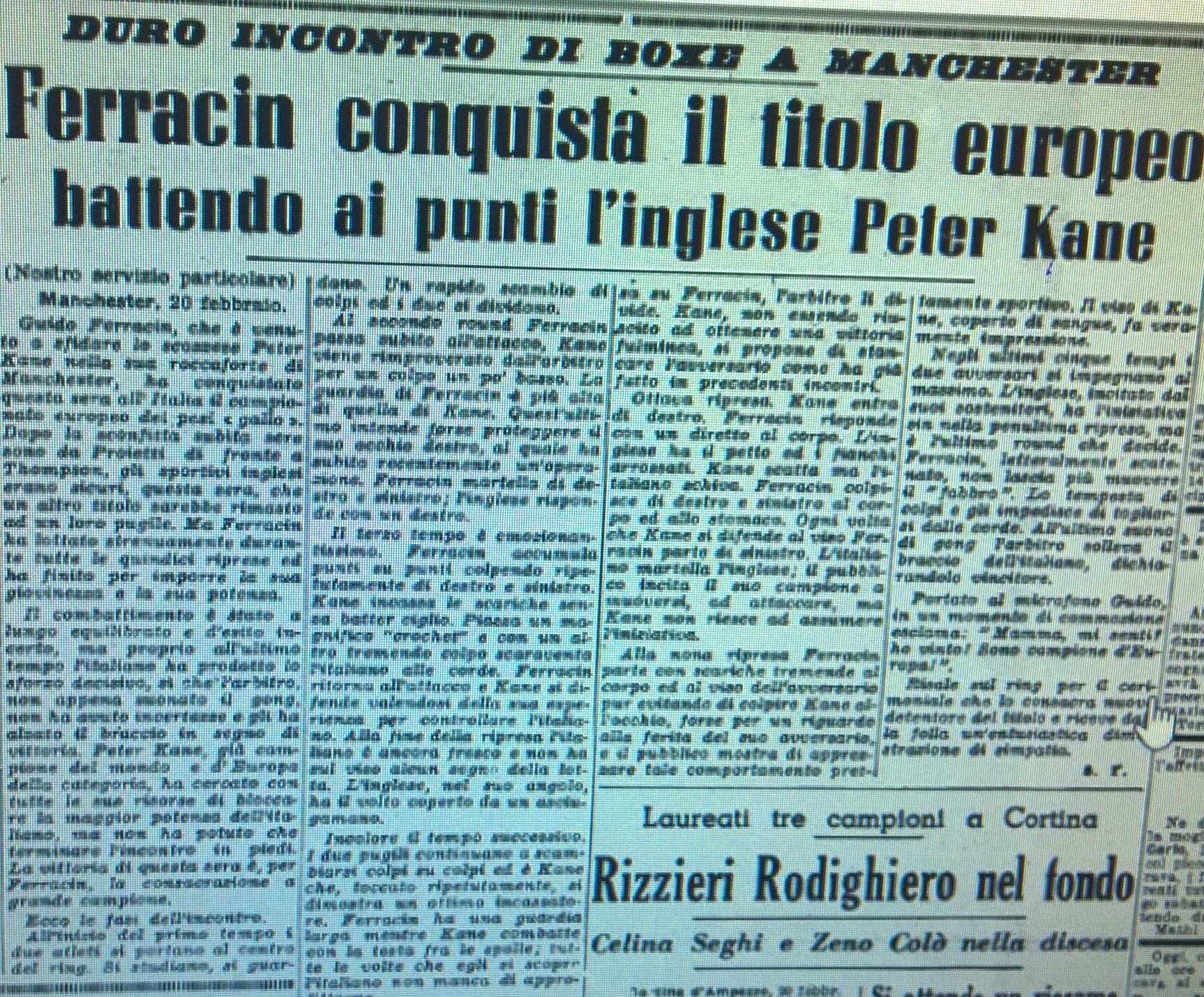 Guido Ferracin campione della Pugilistica Rodigina
