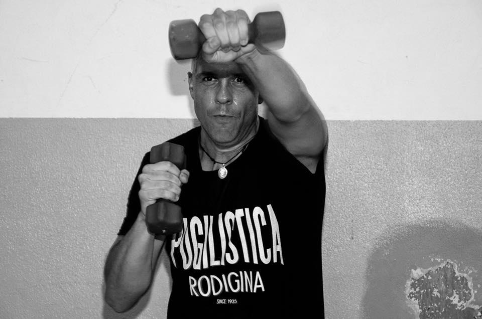 Un atleta della Pugilistica Rodigina in palestra