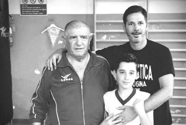 Cristiano Castellacci insieme al maestro Silvano Modena