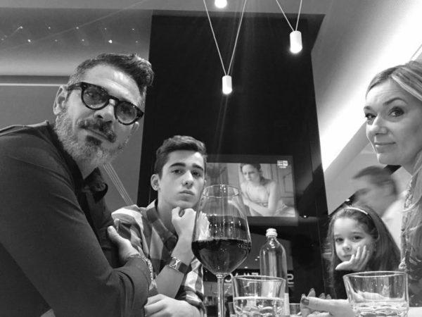 Cristiano Castellacci e la sua famiglia