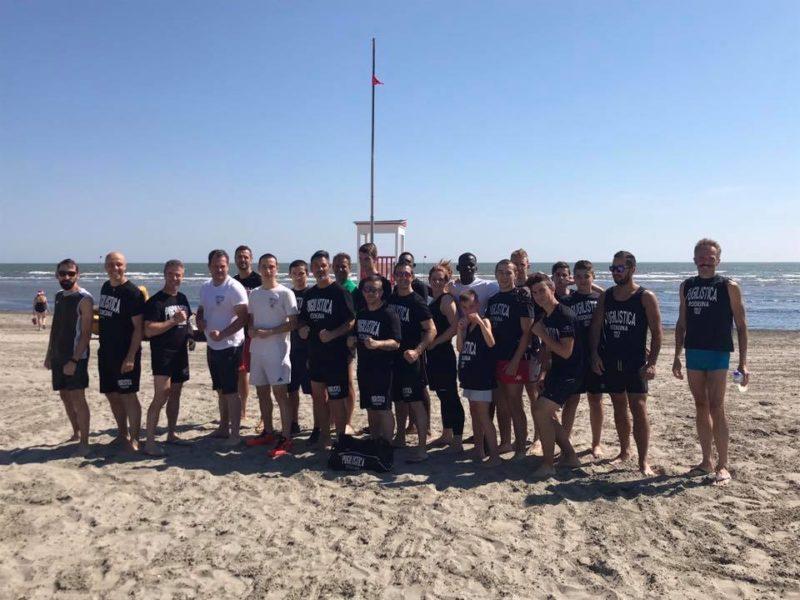 Primo allenamento Isola di Albarella isola sportiva
